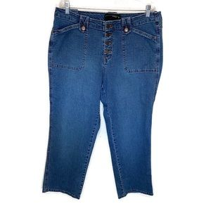Venezia women's jeans 18 button fly cropped
